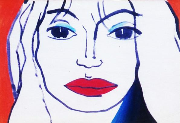 Mujer de labios rojos, Marc Boss